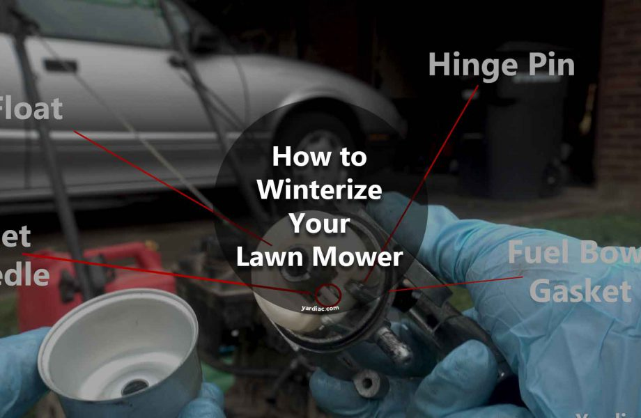 how to winterize lawn mower